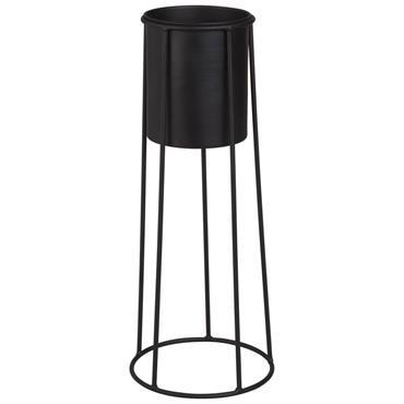 Cache-pot sur pieds en métal noir H45