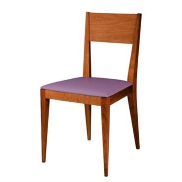 Structure en noyer massif et assise en cuir. Dimensions : LHP : 45 x 84 x 41 cm. Hauteur dassise : 46cm. Fabriqué en France. Garantie 2 ans./Cette chaise est ...