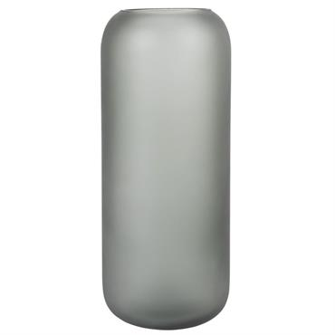Vase en verre gris mat H30