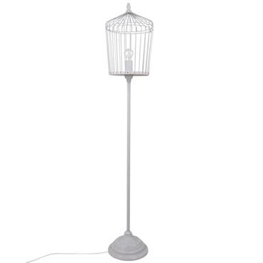 Lampadaire cage en métal noir H146