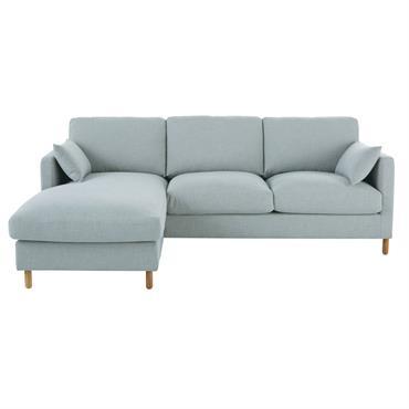 Canapé d'angle gauche 5 places bleu glacier Julian