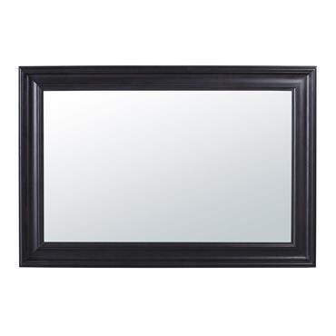 Miroir en paulownia noir à moulures 95x140