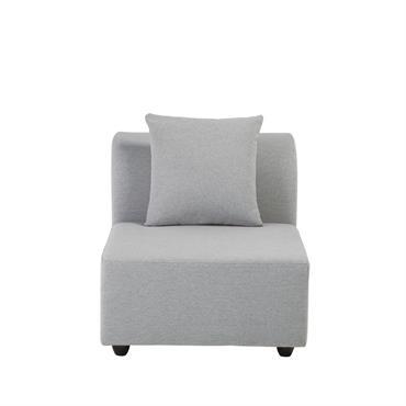 Chauffeuse de canapé modulable gris clair Lucy