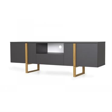 Meuble TV design en bois Gris