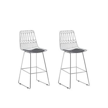 Lot de 2 chaises argentées