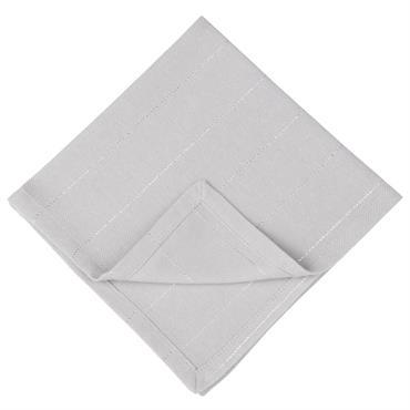 4 serviettes en coton rose motifs rayures irisées 40x40