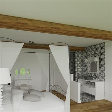 Optimisation intégrale d'une chambre de 17 m² en vue de l'implantation d'une salle d'eau  Cette petite salle d'eau de 2,6 m² ... Domozoom