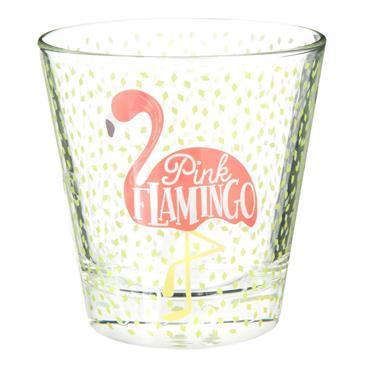 Gobelet en verre imprimé flamant rose FLAMINGO