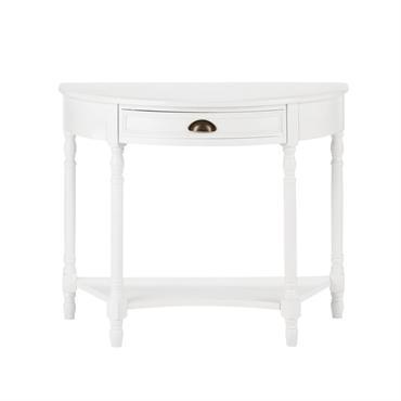 Console 1 tiroir blanche Joséphine