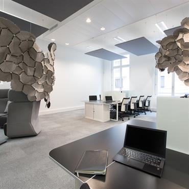 Aménagement et décoration d'un siège social, Paris. Conception, Mobilier, Décoration  Domozoom