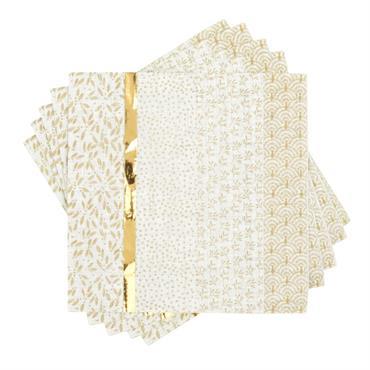 Serviette en papier à motifs dorés