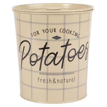 Pot à pommes de terre en métal vert imprimé noir