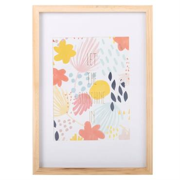 Tableau imprimé fleurs 23x31