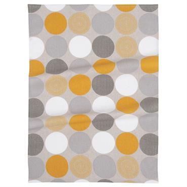 Torchon en coton motifs graphiques 50x70