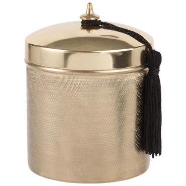 Boîte en métal martelé doré