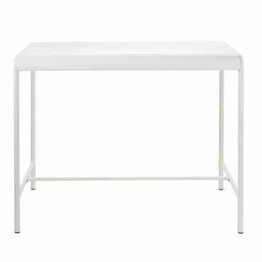 Table haute de jardin en métal blanc 4 personnes L130 Batignolles