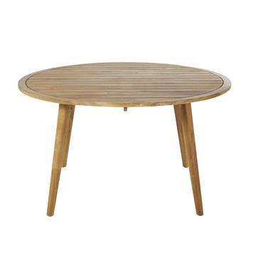 Table de jardin ronde en acacia massif 6 personnes D140 Noumea