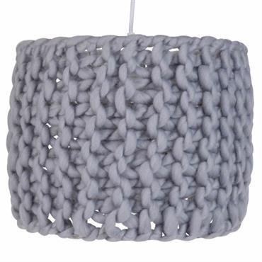 Suspension tricot en coton gris