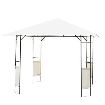 Tonnelle barnum pavillon de jardin métal époxy polyester crème