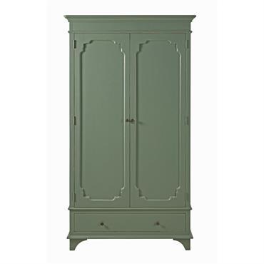 Laissez-vous séduire par les lignes classiques de l' armoire 2 portes 1 tiroir vert kaki SELENA . Son coloris vient moderniser un design intemporel, pour un ensemble inspiré de la ...