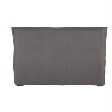 Housse de tête de lit 180 en lin lavé grise MORPHÉE