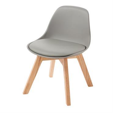 Chaise style scandinave enfant grise et chêne Ice