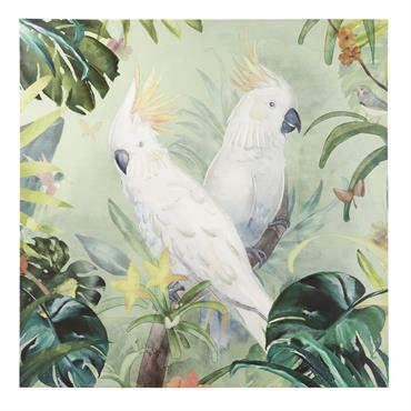 Toile perroquets 120x120