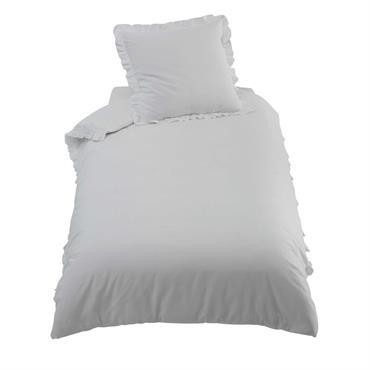 Parure de lit en coton écrue 140 x 200 cm ANAÏS