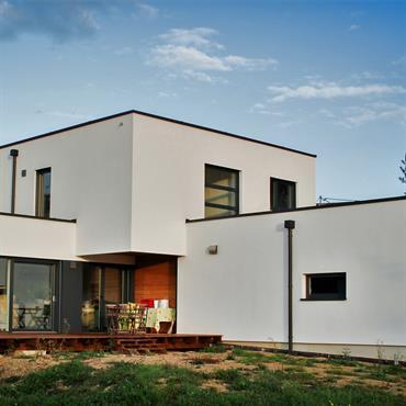 Construction d'une maison moderne en ossature bois à Fislis en Alsace