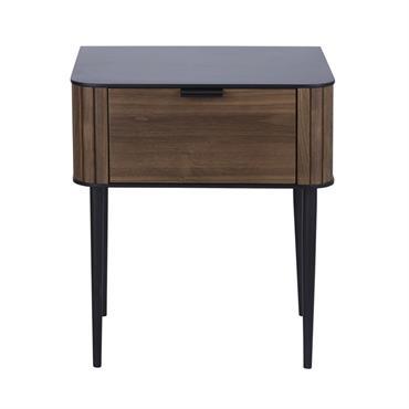 Table de chevet vintage 1 tiroir Spiga