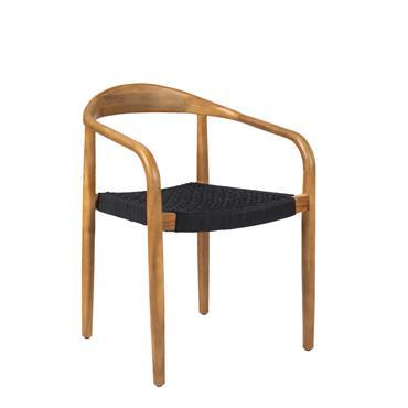 Solidement fabriquée en bois d'acacia, la chaise indoor/outdoor Salao est robuste et résiste parfaitement à l'extérieur (lorsqu'il pleut, on la protège tout de même des intempéries). La finition très naturelle ...