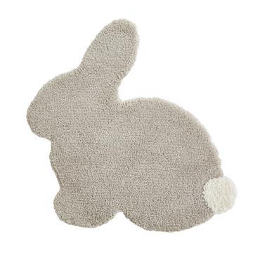 Sur les murs, au plafond et maintenant à même le sol : les petits lapins sont absolument partout avec le tapis lapin taupe et écru 80x75 ST HONORE ! Décliné ...