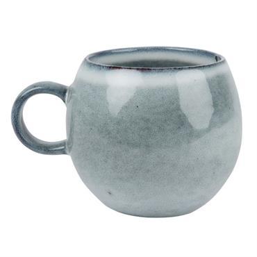 Mug en faïence bleu gris