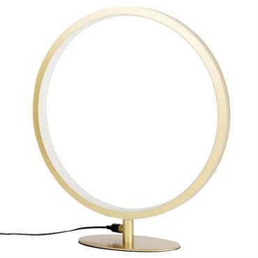 Lampe LED en métal doré