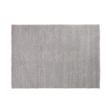 Tapis en coton tressé gris 160x230