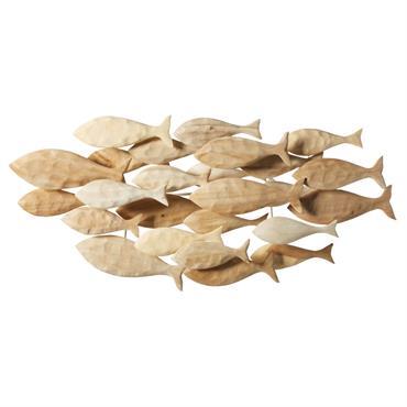 N'hésitez plus à adopter la tendance bord de mer chic avec la déco murale poissons en albizia 104x49 MASCATE. Ses petits poissons en bois sculpté apporteront de l'authenticité dans un ...