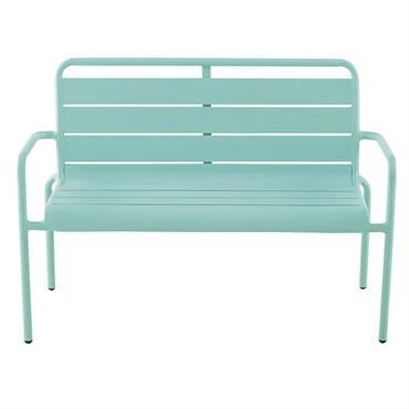 Banc enfant en métal bleu turquoise Fun Summer