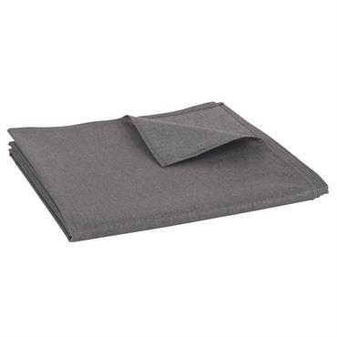 Nappe enduite grise et argentée 140x250