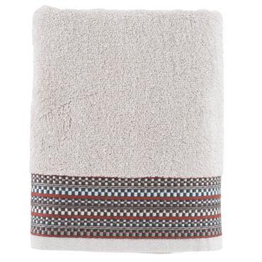 La serviette de toilette Marlow se compose de bouclette de coton chinée 600 g/m² de couleur lin. Elle se caractérise par ses boucles chinées et le travail de rayures dans ...
