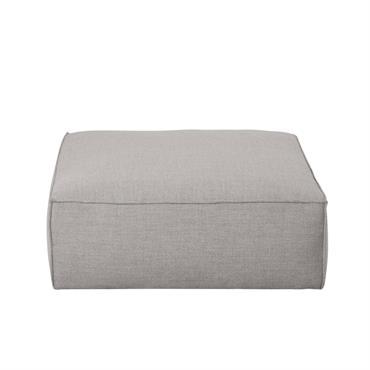 Pouf de canapé gris Fakir