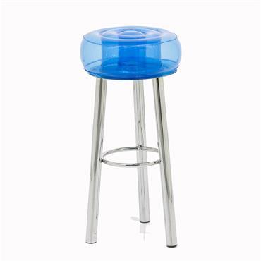 Tabouret de bar design bleu