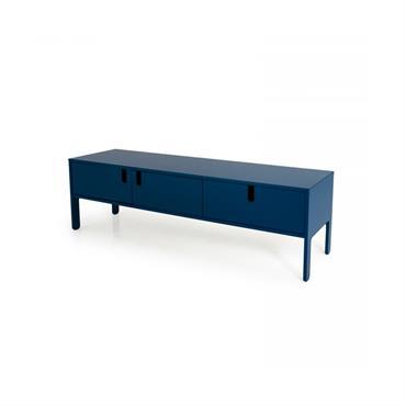 Meuble TV design 171cm style moderne Bleu