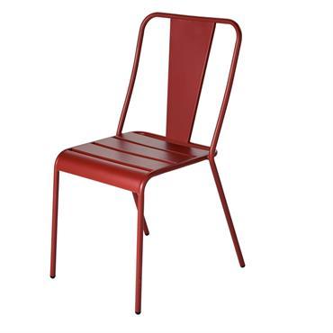 Chaise de jardin en métal terracotta Harry's