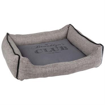Panier pour chien gris imprimé noir 38x45