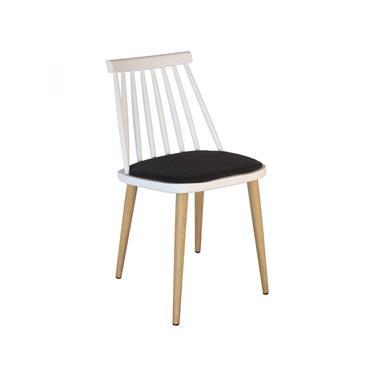 Chaise design nordique Blanc