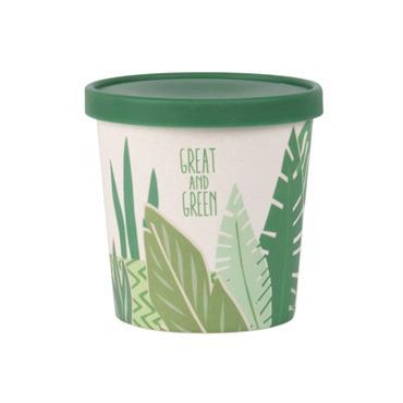 Pot à yaourt imprimé végétal