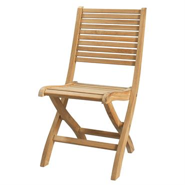 Chaise pliante de jardin en teck massif Oléron