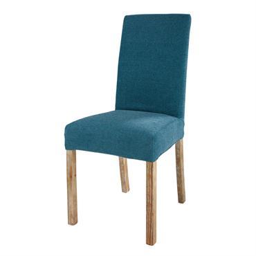 Housse de chaise bleu cobalt 46x69