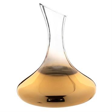 Carafe décanteur en verre dégradé doré 1
