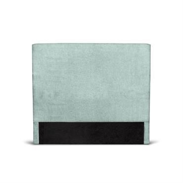 Tête de lit lisse en tissu bleu - 140cm